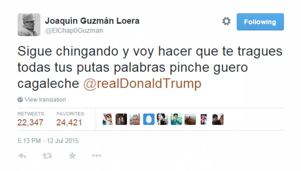 (Twitter/@ElChap0Guzman)